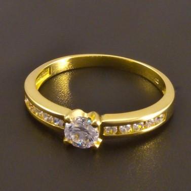 Zlatý prsten se zirkony 7520 č.1