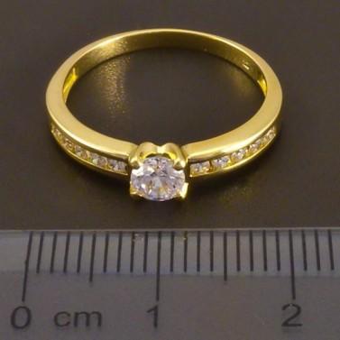 Zlatý prsten se zirkony 7520 č.2