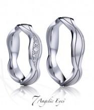 Stříbrné snubní prsteny 030 Dante a Beatrice