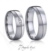 Snubní prsteny s diamantem 035 Quasimodo a Esmeralda