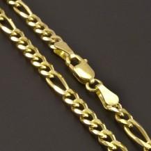 Zlatý masivní řetízek figaro 7575