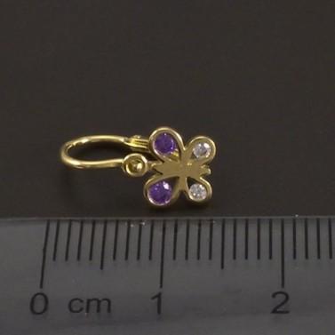 Motýlci zlaté náušnice dětské 7662 č.3