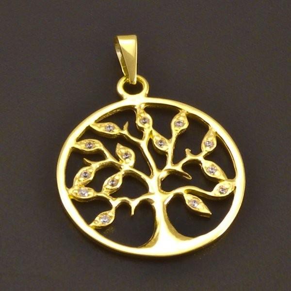 Moderní zlatý přívěs strom života 7739 č.1 ... 32e8c26096e