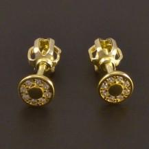 Zlaté náušnice na šroubek 7757