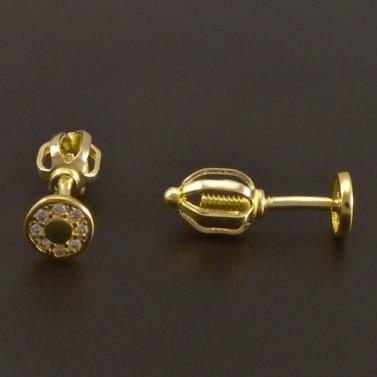 Zlaté náušnice na šroubek 7757 č.2