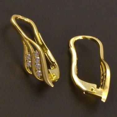 Zlaté náušnice dívčí se zirkony 7760 č.2