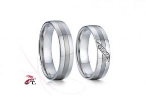 Snubní prsteny z bílého zlata 7766