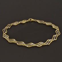 Náramek žluté zlato 7768