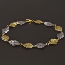 Náramek v kombinaci žlutého a bílého zlata 7770