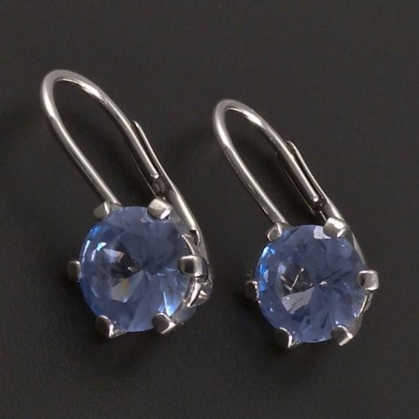 Stříbrné náušnice s modrým zirkonem 7795 č.1 ... 6d1befe2c5b