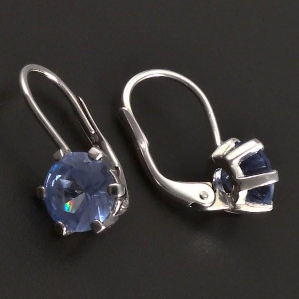 ... Stříbrné náušnice s modrým zirkonem 7795 č.2 ... 05cec511f42