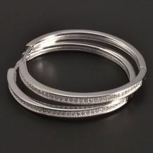 Kruhy se zirkony stříbro 7820