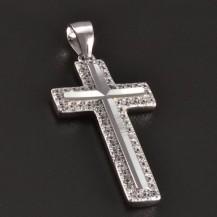 Stříbrný křížek se zirkony 7833