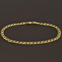Zlatý náramek dvojpancr 7852