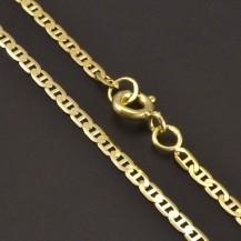Plochý zlatý řetízek 7853