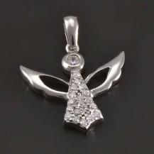 Přívěsek stříbrného anděla 7890