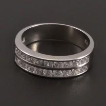 Zirkonový prsten ve stříbře 7899