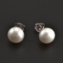 Stříbrné náušnice s perlou 7933