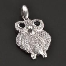 Sova stříbrný přívešek 7941