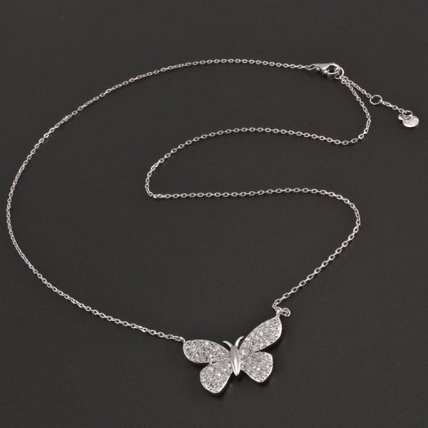Stříbrný řetízek s motýlem 7952 č.1 ... ee2748a0d5