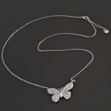Stříbrný řetízek s motýlem 7952