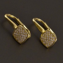 Zlaté náušnice na klapku 7983