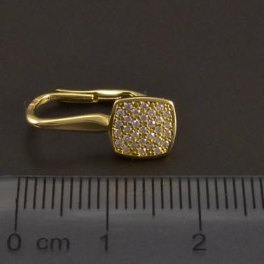 Zlaté náušnice na klapku 7983 č.3