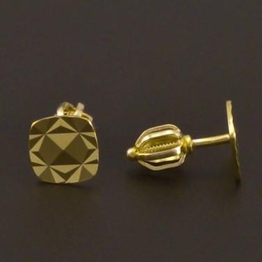 Zlaté náušnice vybrušované 8004 č.2