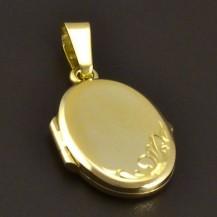 Zlatý medailon přívěšek 8005