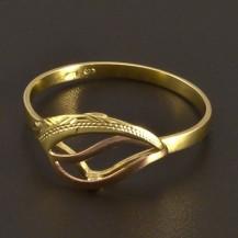 Zlatý prsten ruční práce 8008