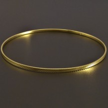 Zlatý náramek pevný kruh vybrušovaný 8013