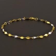 Náramek ze žlutého a bílého zlata 8016