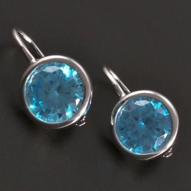 Náušnice s modrým zirkonem 8027 č.1