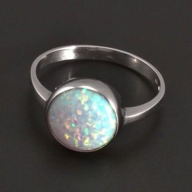 Prsten s opálem bílé zlato 8054 č.1