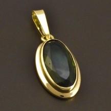 Vltavínový přívěs zlatý 8065