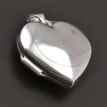 Otevírací medailon bílé zlato 8068