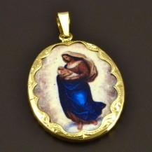 Porcelánová Madonka ve zlatě 8073