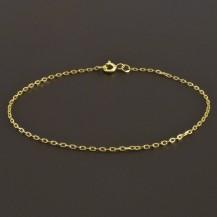 Zlatý jemný náramek ankr 8075