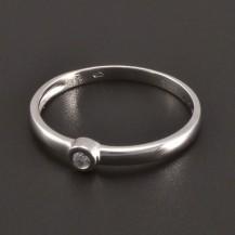 Jemný zlatý prsten s diamantem 8080