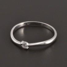 Diamantový prsten z bílého zlata 8081