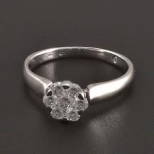 Diamantový zlatý prsten 8084