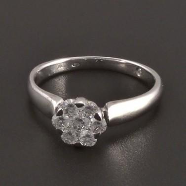 Diamantový zlatý prsten 8084 č.1