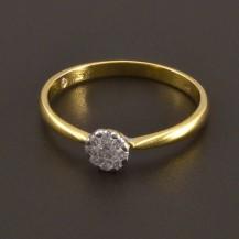 Briliantový  zlatý prsten 8085