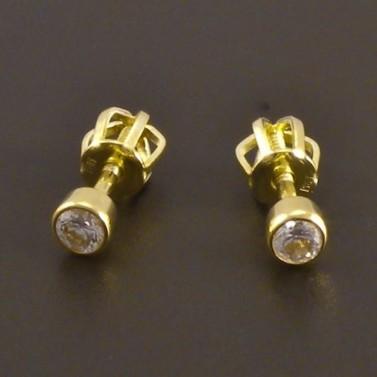Zlaté náušnice s briliantem 8092 č.1