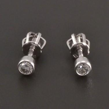 Diamantové náušnice pecky 8093 č.1