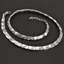 Stříbrný náhrdelník lesk/mat 8098
