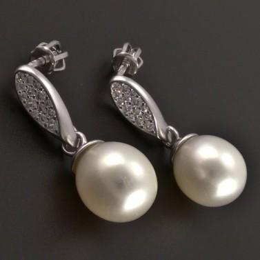 Zlaté náušnice s kultivovanou perlou 8119 č.1