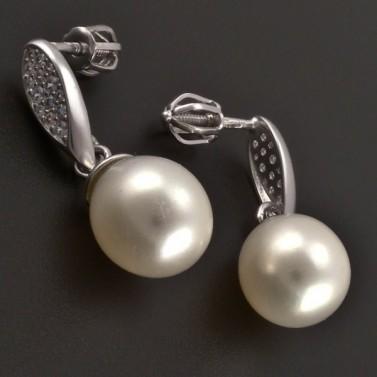 Zlaté náušnice s kultivovanou perlou 8119 č.2