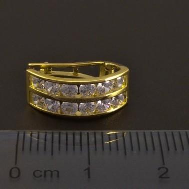 Slušivé zlaté náušnice se zirkony 8145 č.3