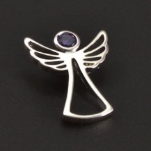 Anděl s fialovým zirkonem 8150